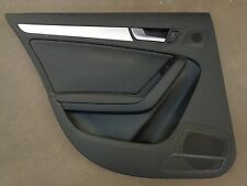 10 11 12 AUDI A4 B8 OEM LEFT REAR INTERIOR DOOR TRIM PANEL BLACK