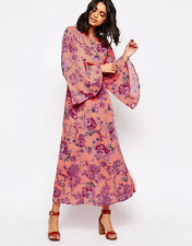 NWT FREE PEOPLE BELL SLEEVE CLEMENTINE MAXI DRESS SZ  0