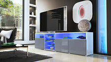 "White High Gloss Modern TV Stand Unit Media Entertainment Center ""Granada V2"""