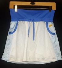 Nike Youth Girls XL Tennis Golf Active Fitness Skirt Skort Shorts White Blue EUC