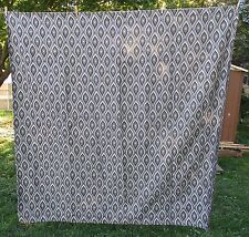 BLACK GRAY & SILVER GEOMETRIC DESIGN SHOWER CURTAIN