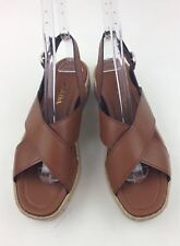 Prada Platform Leather Espadrille Sandal sz 9