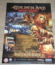GOLDEN AXE BEAST RIDER - - 2008-vintage originale poster pubblicità - 30 x 21 cm