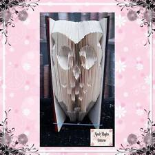 Owl Folded Book Art Folding PATTERN ONLY #1068