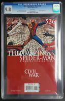 Amazing Spider-Man #536 Marvel Comics CGC 9.8 White Pages