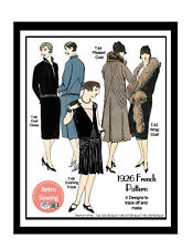 1920s Frocks and Coats Vintage French Sewing Pattern - Reproduction