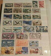 Lot 30 Timbres France Poste Aérienne De 1946 À 2011 Oblitérés / Stamp