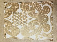 Fortuny Fabric - Peruviano, White and Silvery Gold
