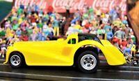 Aurora AFX yellow Roarin Rolls Royce Golden Ghost Racer AW 4 Gear ho slot car