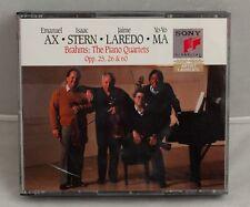 Brahms: The piano quartets 2 CD set AX - STERN - LAREDO - MA EX + Opp 25,26 & 60