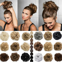 Extra Thick Curly Messy Bun Scrunchie Ponytail Hair Extensions Hair Piece Access