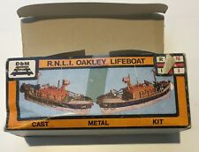 More details for d&m rnli whitemetal kit of an oakley lifeboat, unmade in original box, very good