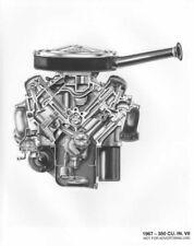 1967 Chevrolet 350 Cu In V8 Engine Press Photo 0109
