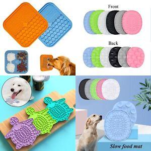 Dog Puppy Pet Lick Pad Bath Buddy Distractor wall Lick Mat Slow Feeder Silicone