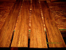 PACKAGES OF THIN PREMIUM KILN DRIED, SANDED EXOTIC ZEBRAWOOD LUMBER WOOD