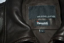 Wilsons Leather Lamb Bomber w/3M Thinuslate Lining Mens Coat Lg Drk Brown NWT