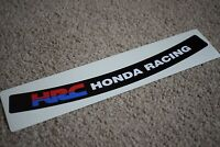 HRC Visor Helmet Sunstrip Sport Racing Motorbike Bike Decal Sticker Black