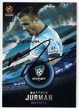 SIGNED MATTHEW JURMAN SYDNEY FC SKY BLUES A-LEAGUE PLAYER 2016/17 CARD 2017