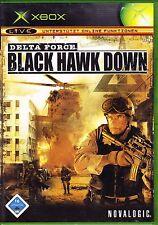 XBOX-Delta Force Black Hawk Down-Usk 16-con istruzioni e scatola originale-topzst.