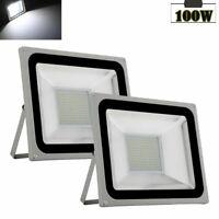 2x 100W LED Flood Light Outdoor Lighting Spotlight Garden Yard Lamp Cool White