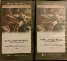 Teaching Co Great Courses GREAT AMERICAN MUSIC Broadway Musicals 4 DVD + Books