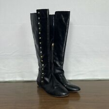 Michael Kors Ailee Black Leather Knee High Boots
