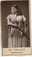 Paris, Théâtre. Mme Krauss dans Jeanne d'Arc  Vintage print.  Photoglypti