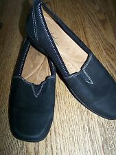 Womens Soft Naturalizer Black Suede Leather Slip On Loafers Flats Shoes 8 M