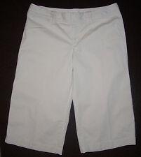 Sz 8 LONDON JEAN Chino Stretch 32x18 Women's CAPRI CROPPED PANTS Beige Tan