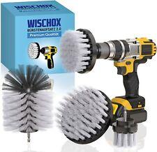 WISCHOX® Bürstenaufsatz Bohrmaschine 4er Set für Akkuschrauber Reinigungsbürste