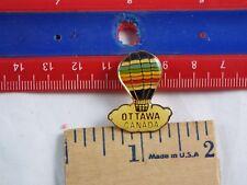 HOT AIR BALLOON LAPEL PIN OTTAWA CANADA