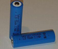 LiFePo4 Akku 3,2V IFR 14500 AA 700mAh Akku Zelle erhöhter +Pol z.B. Solarlampe