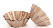 "4PCS Non stick tart Pan Mini 3"" fluted Cake mould golden Pastry  pan Bakeware"