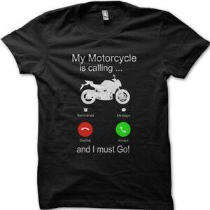 My Motorcycle is calling Biker Yamaha Suzuki Kawasaki printed t-shirt 9040