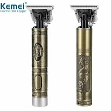 Kemei Dragon Metal Pro T-OUTLINER Cordless Trimmer Wireles Portable Hair Clipper