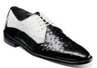 Stacy Adams Russo Men's Shoes Oxford Black White 25273-111