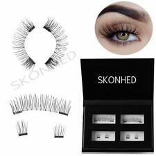 Double Magnetic False Eyelashes Natural Handmade Glue-Free Skonhed Lashes
