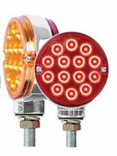 """LED light 3"""" Pearl Double Face Amber/Red 14 diodes red/amber Peterbilt Kenworth"""