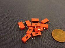 10 pcs Slide Type Switch 1-Bit 2.54mm 1 Position DIP Red Pitch 10x c13