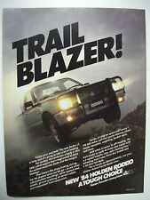 1984 HOLDEN RODEO LS FULLPAGE COLOUR MAGAZINE ADVERTISEMENT