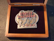 95th Anniversary Harley belt buckle + wood box #5837 & 6057 collectible EP1501