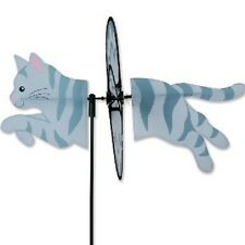 "19"" Tabby Cat-Gray-Petite Garden Wind Spinner - Yard Stake - Garden Decor"