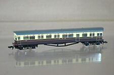 LANGLEY N SCALE KIT BUILT GW GWR CHOCOLATE CREAM AUTOCOACH No 180 GREY ROOF mz