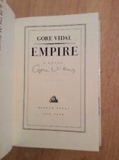 SIGNED by Gore Vidal - Empire : A Novel HC 1st/1st