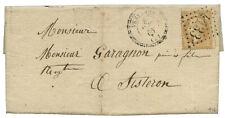 BASSES ALPES 1866 10c N°21 GC 4133 LETTRE VENTAVON POUR SISTERON