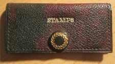 1930s small brown  pouch stamp wallet