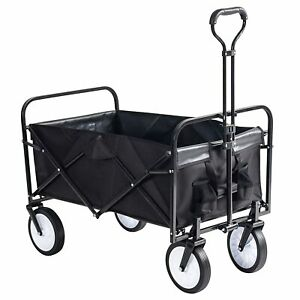Grandma Shark Heavy Duty Garden Cart, Folding Wagon (Black)