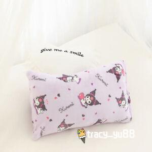 Kuromi purple fuzzy fleece blanket blankets pillowcover bed sheet quilt model