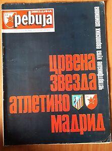 magazine RED STAR JOURNAL revue March 1974 RED STAR Belgrade ATLETICO vs Madrid
