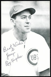 """Roy Hughes Autographed Signed 3.5x5.5 Postcard Chicago Cubs """"To Jerry"""" 153956"""